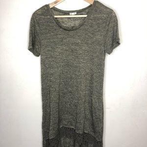 Eyeshadow Green High/Low shirt dress